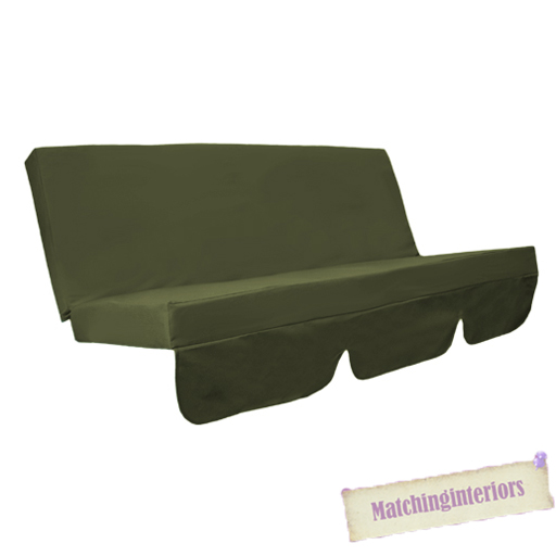 Olive Green Water Resistant Bench Cushion For Swing