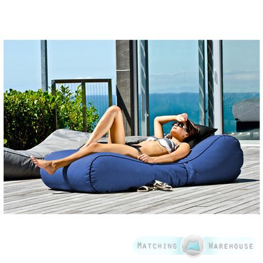 Outdoor Garden Waterproof Bean Bag Sun Lounger Recliner