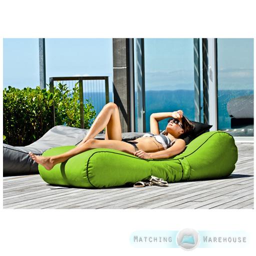 Outdoor garden waterproof bean bag sun lounger recliner for Bean bag chaise longue