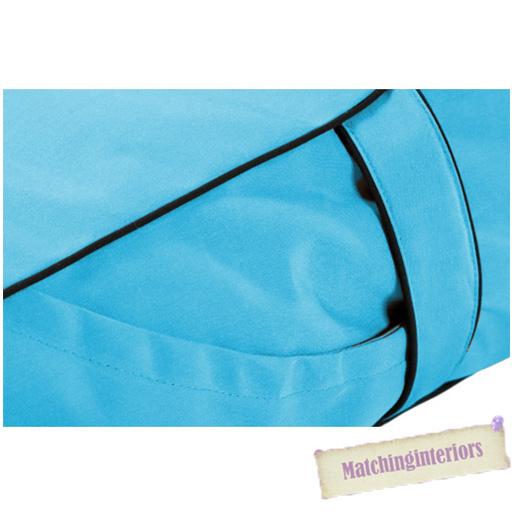 Turquoise splash proof bean bag sun lounger chaise longue for Bean bag chaise longue