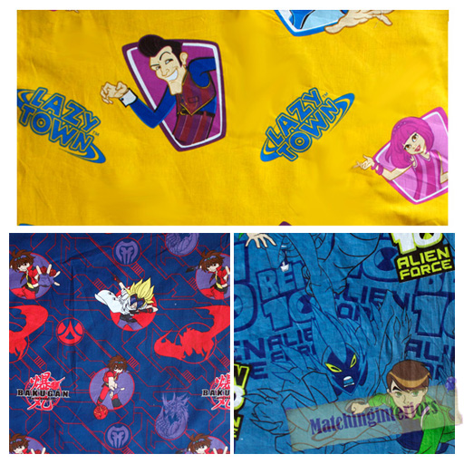 Childrens cartoon character licensed official design kids for Kids character fabric