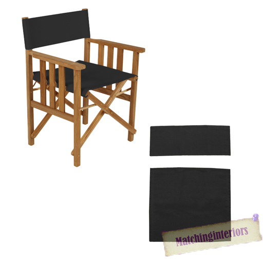 Black Director Chairs Replacement Polyurethane Coated