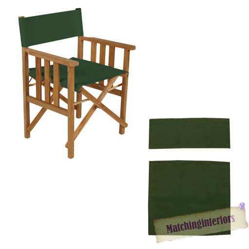 Green director chairs replacement polyurethane coated canvas covers garden ebay