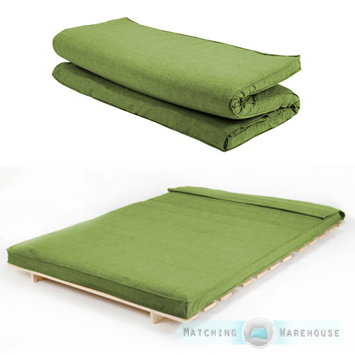 Fabric Double Size Futon Mattress Folding Foam Filled