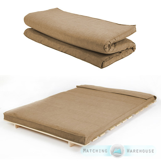 Fabric double size futon mattress folding foam filled - Taille matelas double ...