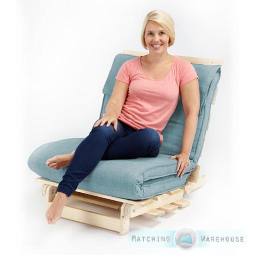simple 1 place tissu futon bois base pli matelas mousse. Black Bedroom Furniture Sets. Home Design Ideas