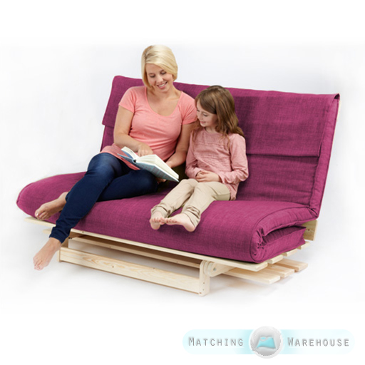 double 2 3 seater textured fabric wood futon base foam