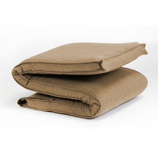 Beige Textured Fabric Single Folding Sleeping Bed
