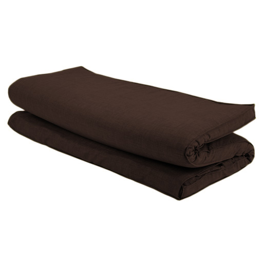 brown textured fabric double folding sleeping bed replacement mattress for futon. Black Bedroom Furniture Sets. Home Design Ideas
