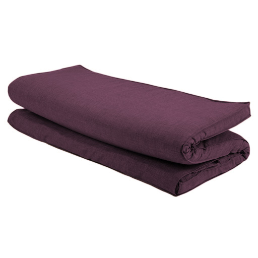 Plum Textured Fabric Double Folding Sleeping Bed