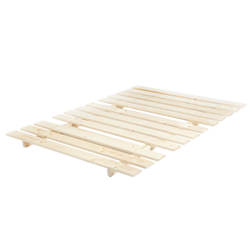 Prune doubles 2 place tissu complet futon bois base plier for Base de lit double kijiji