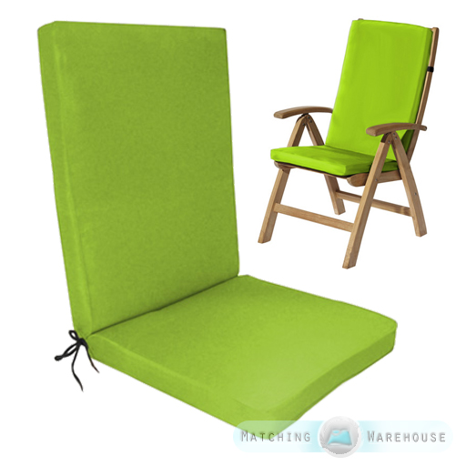Highback Garden Dining Chair Cushion Pad Outdoor Furniture