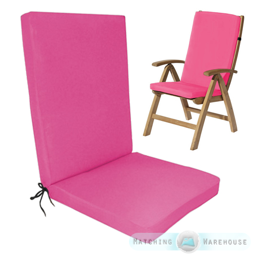 Highback Garden Dining Chair Cushion Pad Outdoor Furniture Highback Garden Dining Chair Cushion Pad Outdoor Furniture High  . Pink Dining Chair Cushions. Home Design Ideas