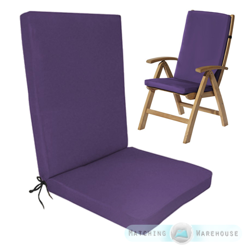 Highback Garden Dining Chair Cushion Pad Outdoor Furniture  : GP20G920Pad20Purple from www.ebay.co.uk size 512 x 512 jpeg 169kB