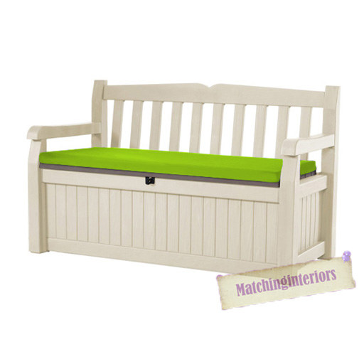 Lime Water Resistant Bench Pad Only For 2 Seat Keter Iceni Eden Garden Benches Ebay
