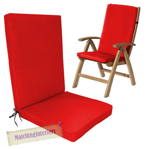 Red Water Resistant Highback Garden Dining Chair Back  : GP20G920Red from www.ebay.ie size 512 x 512 jpeg 148kB