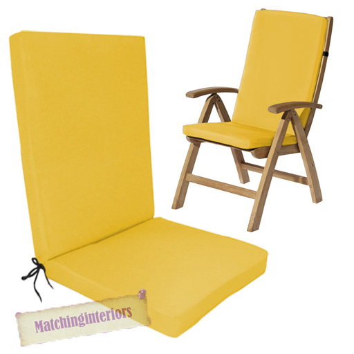 Yellow Water Resistant Highback Garden Dining Chair Back  : GP20G920Yellow from www.ebay.co.uk size 512 x 512 jpeg 142kB