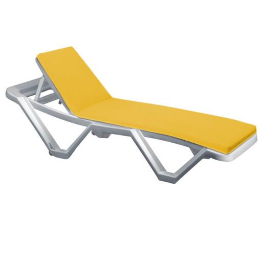 Coussin ext rieur pour chaise longue transat inclinable for Chaise longue pour exterieur