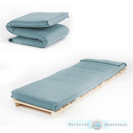 single size futon mattress folding foam filled removeable fabric cover 1 seater ebay. Black Bedroom Furniture Sets. Home Design Ideas