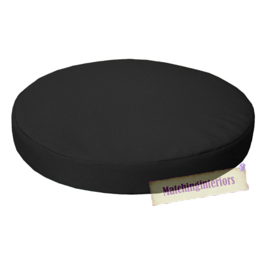 Black 13quot Circular Round Water Resistant Garden Chair  : GP20G1120Black from www.ebay.co.uk size 512 x 512 jpeg 113kB