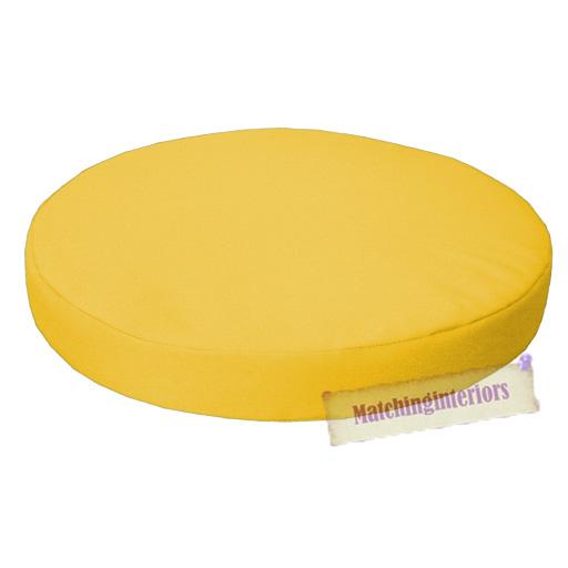 garten stuhl kissen rund gelb 33cm wasserfest essen bistro kissen ebay. Black Bedroom Furniture Sets. Home Design Ideas