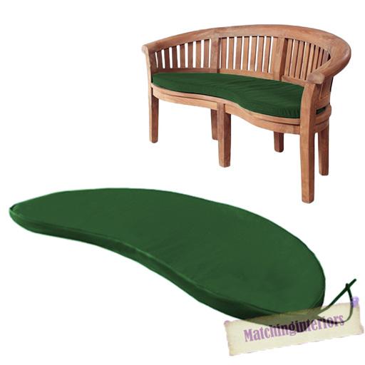 Green 2 Seater Water Resistant Outdoor Cushion Garden