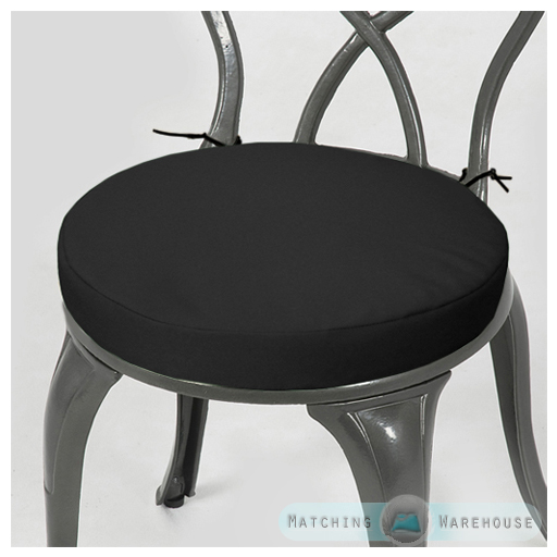 Round Garden Chair Cushion Pad ONLY Waterproof Outdoor Bistro Stool Patio Din