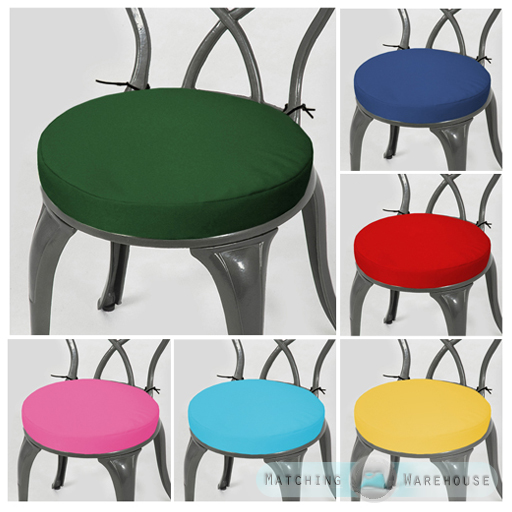 round garden chair cushion pad only waterproof outdoor bistro stool