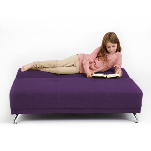 clic clac pourpre lit d enfant clients sleepover canapé soafbed clic