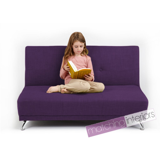 violet clic clac enfants 2 places sofa lit invit soir e. Black Bedroom Furniture Sets. Home Design Ideas