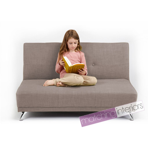 light grey clic clac children 39 s kids 2 seater sofa bed guest sleepover settee ebay. Black Bedroom Furniture Sets. Home Design Ideas