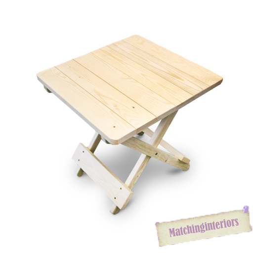 coated wooden side folding picnic camping table small garden patio furniture ebay. Black Bedroom Furniture Sets. Home Design Ideas