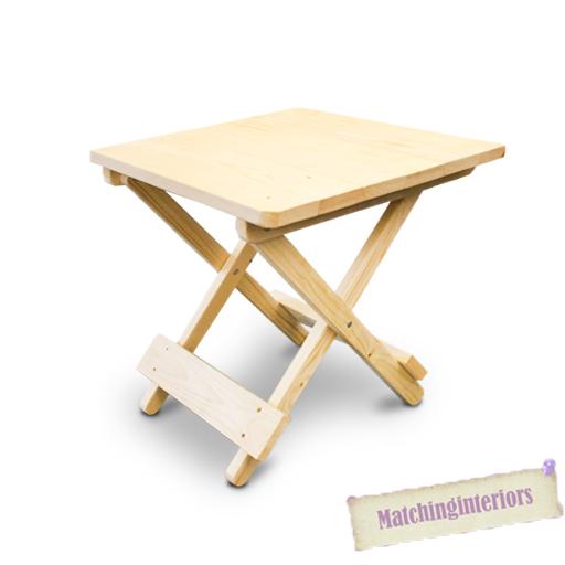 Couvert en bois cot pliable pique nique camping table for Couvert de table en anglais