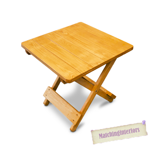 Oak colour wooden side folding picnic camping table small for Small wooden garden table