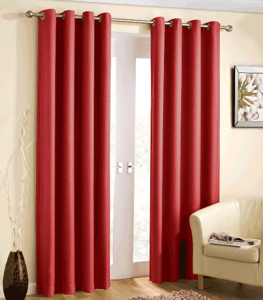 Red Blackout Bedroom Curtains