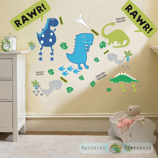 Nursery Wall Decor Set : Childrens kids themed wall decor room stickers sets