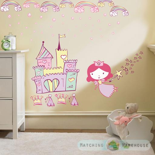 Bambini bimbi fantasia decorazione muro camera adesivi set camera ...