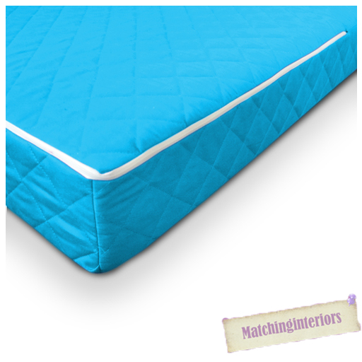 Aqua Quilted Colourful Luxury 100 Cotton Twill Cot