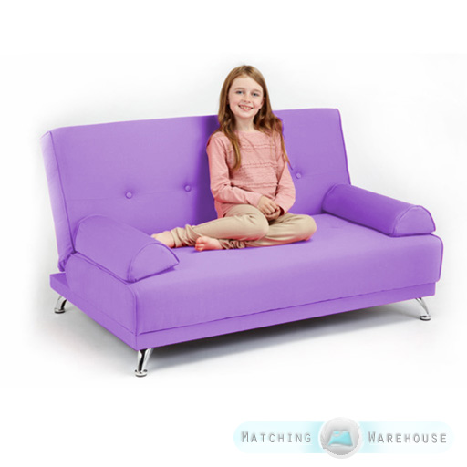 Childrens Cotton Twill Clic Clac Sofa Bed With Armrests