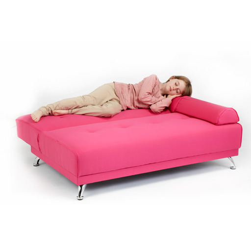 Childrens cotton twill clic clac sofa bed with armrests futon sofabed kids guest - Matelas futon clic clac ...