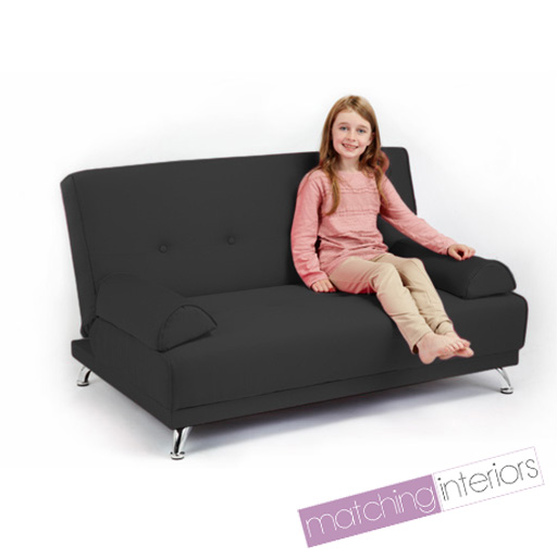 childrens cotton twill clic clac sofa bed with armrests. Black Bedroom Furniture Sets. Home Design Ideas