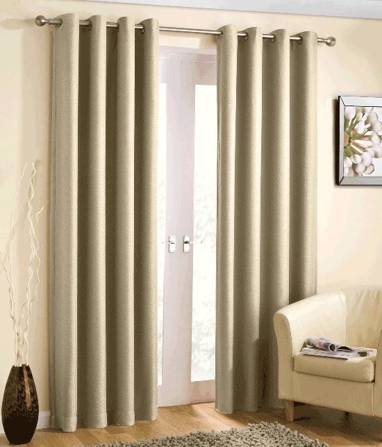 Basket Weave Light Reducing Eyelet Curtains Blockout Thermal