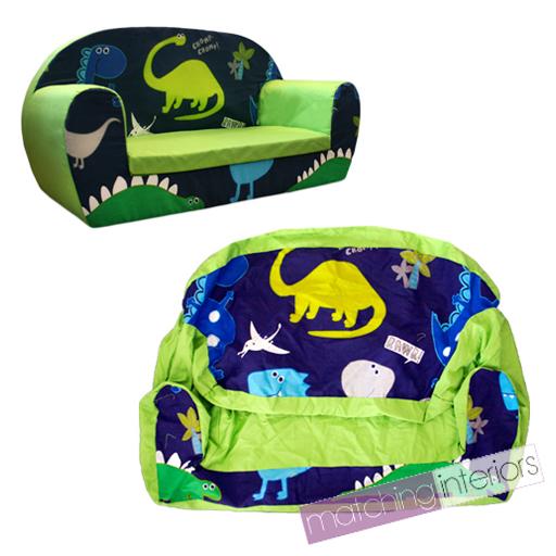 Dinosaurs Dino Kids Children's Double Foam Sofa Toddlers