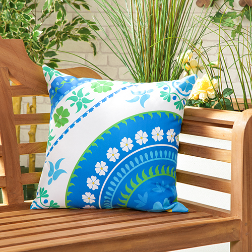 Water Resistant Outdoor Printed Cushions Washable Scatter Garden Cane Furnitu