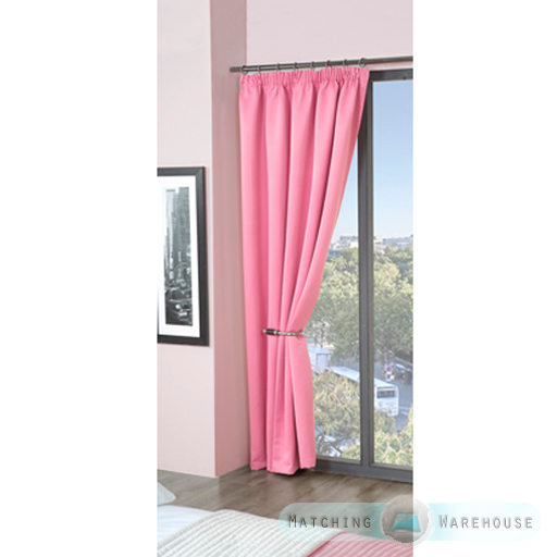 Childrens Plain Colour Dyed BlackOut Thermal Curtains Tape Top ...