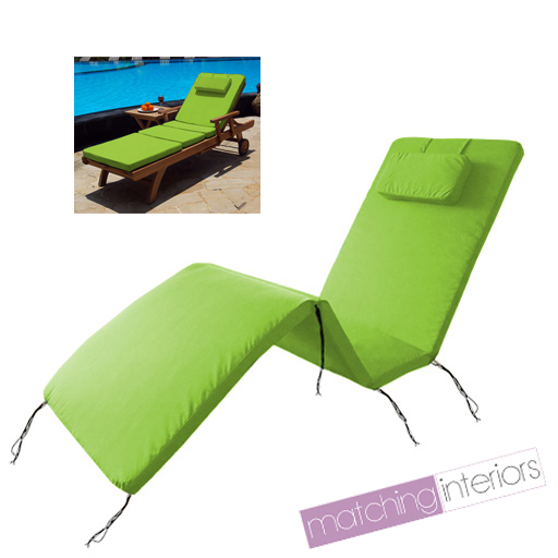 lime wasserfest au en polster auflage f r garten terrasse d mpfer liegestuhl ebay. Black Bedroom Furniture Sets. Home Design Ideas