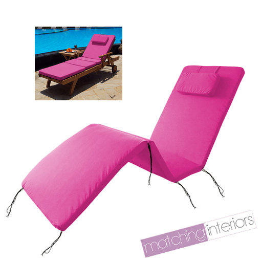 Pink Water Resistant Outdoor Cushion Pad For Garden
