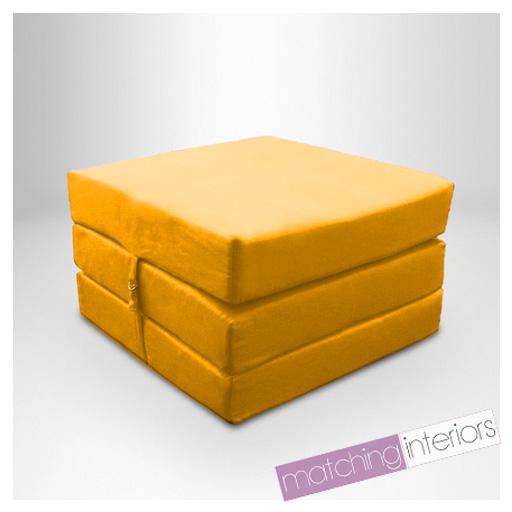 jaune r sistant aux claboussures essuyer repli cube matelas invit lit z. Black Bedroom Furniture Sets. Home Design Ideas