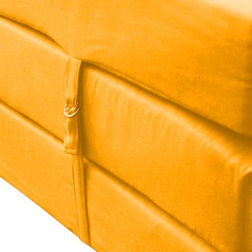 jaune r sistant aux claboussures essuyer repli cube matelas invit lit z ebay. Black Bedroom Furniture Sets. Home Design Ideas
