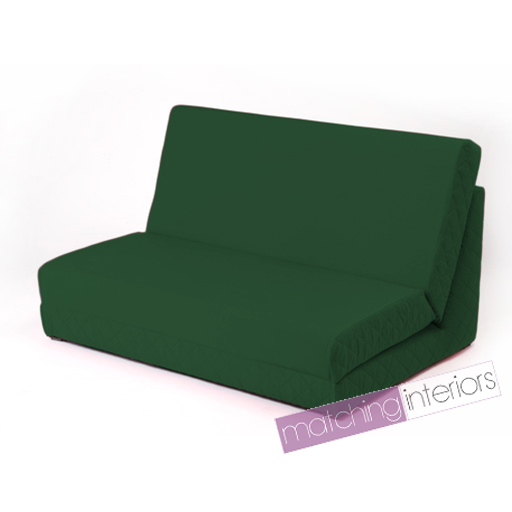green fold out z bed double chair 2 seat sofa guest bed